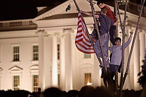 Reaction to the death of Bin Laden at the White House