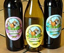 Horse's Ass Wine Label