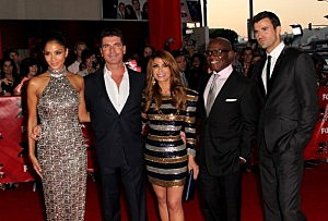 Nicole Scherzinger, Simon Cowell, Paula Abdul, L.A. Reid and Steve Jones