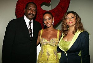 Mathew, Beyonce and Tina Knowles