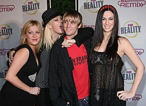 Angel Carter, Leslie Carter, Aaron Carter and Bobbie Jean Carter