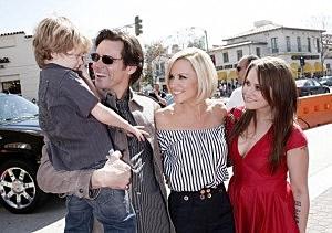 Jim Carrey, Jenny McCarthy and Jane Carrey