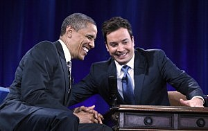 President Obama with Jimmy Fallon