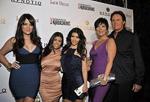 Khloe, Kourtney and Kim Kardashian, Kris and Bruce Jenner