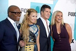 L.A. Reid, Demi Lovato, Simon Cowell, and Britney Spears