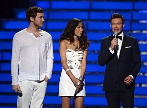 Phillip Phillips, Jessica Sanchez and Ryan Seacrest