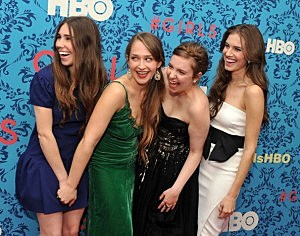 Zosia Mamet, Jemima Kirke, Lena Dunham and Allison Williams