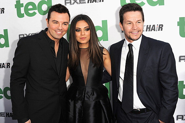 Seth MacFarlane, Mila Kunis and Mark Wahlberg
