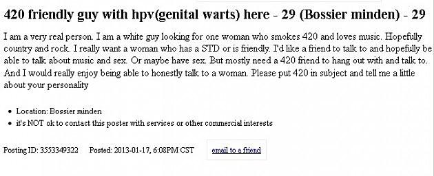 Craigslist shreveport dating