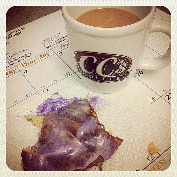 kingcake and coffee