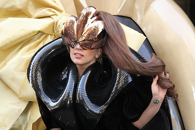 lady gaga gold wheelchair