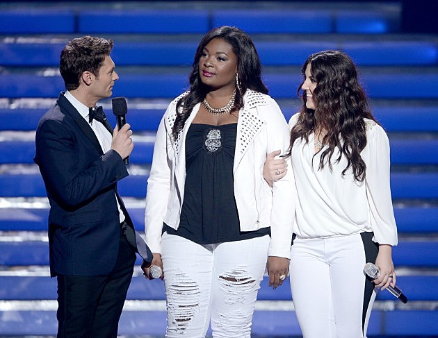 Ryan Seacrest, Candice Glover and Kree Harrison