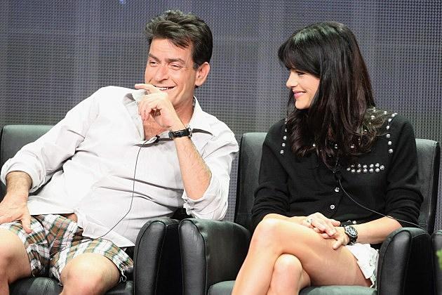 Charlie Sheen and Selma Blair