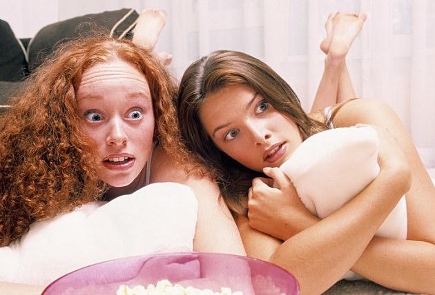 surprised high school girls