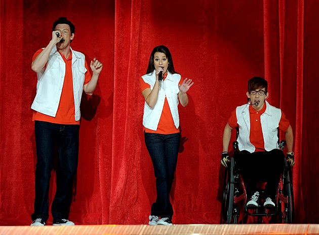 Cory Monteith, Lea Michele and Kevin McHale