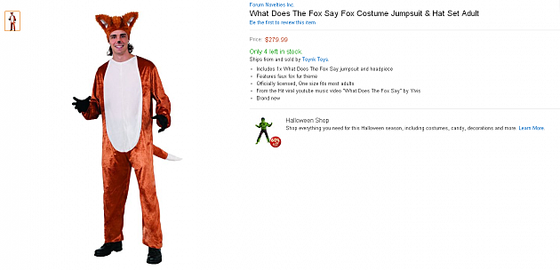 amazon fox costume