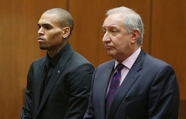 Chris Brown and Mark Geragos