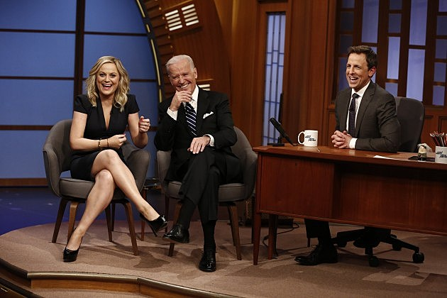 Amy Poehler, Vice President Joe Biden and Seth Meyers
