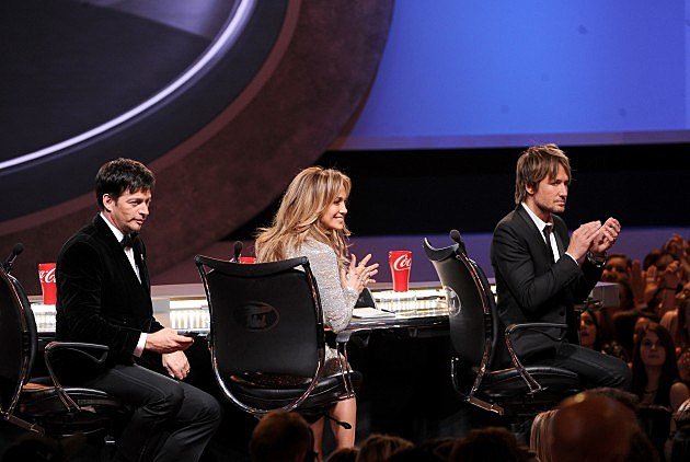 Harry Connick, Jr., Jennifer Lopez and Keith Urban