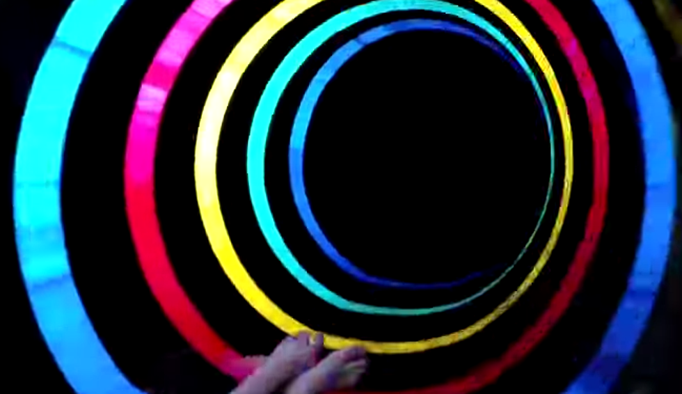 led black hole slide at water park is mind blowingly cool