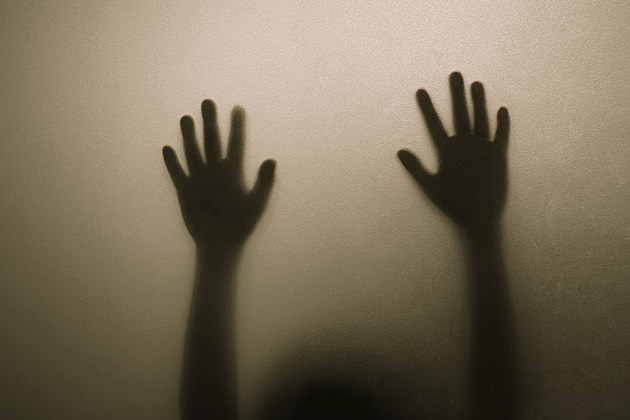 scary silhouette hand