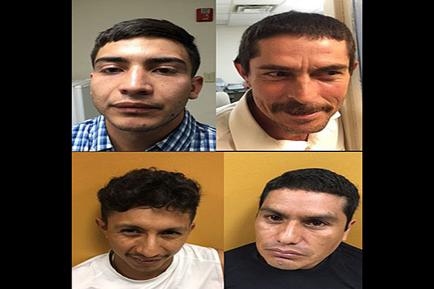 23-year-old Damian Martinez, of San Antonio, Texas; 40-year-old Miguel Tejeda, of Stockdale, Texas; 42-year-old Juan Garcia, of Manvel, Texas; and 32-year-old Rolando Cabrera, of Brookshire, Texas - Photo Courtesy: Louisiana State Police