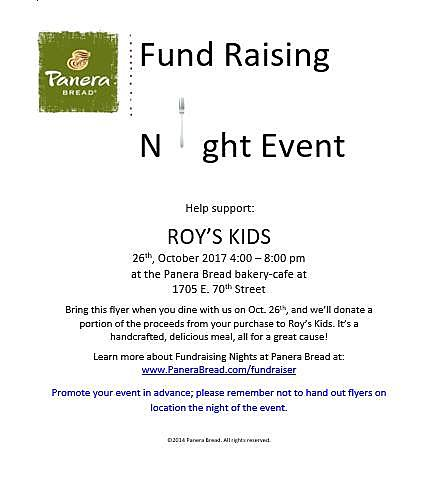 make sure you show the flyer above when you go to panera bread on the 26th to make sure roys kids gets a portion of what you spend - Panera Bread Christmas Eve Hours